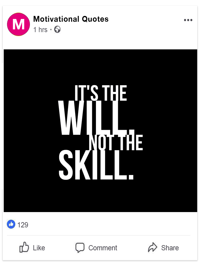 Facebook post no link