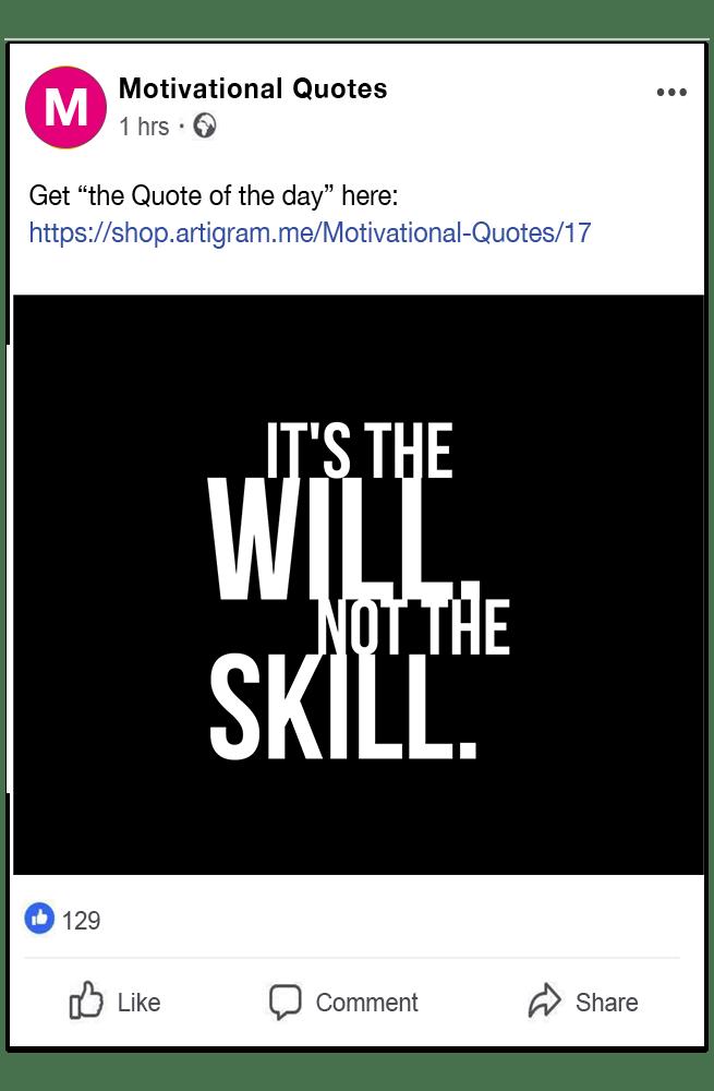 Facebook Quote link
