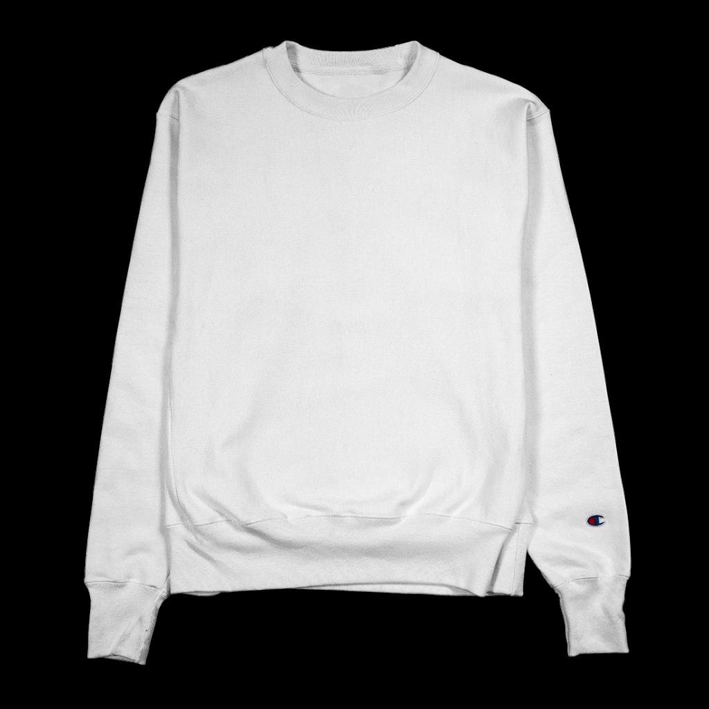 White Champion s600 sweatshirt